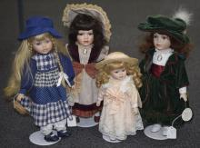 Collection Of Four Modern Display Dolls,