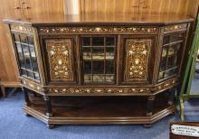 Edwardian Mahogany Inlaid Side Cabinet T