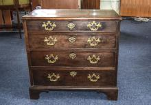 George III Chest Of 4 Drawers Of Small P