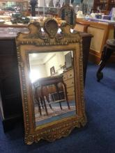 Queen Anne Style Gilt Gesso Wall Mirror,