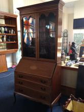 Edwardian Mahogany Bureau Bookcase, In T