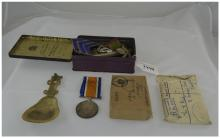 WW1 Military Interest Collection Of Meda