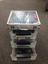 3 Drawer Plastic Cabinet Containing A Sm