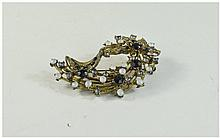 A Large ' Costume Jewellery ' Type Brooch In a Box.