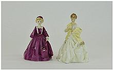 Royal Worcester Figurines 2 in total. 1. First Dance 3629. Modelled by F Do