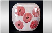 Carlton Ware Hand Painted ''Studio Poppy'' Vase - Signed to base, approx 8 inches in height.