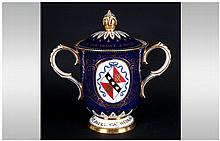 Royal Crown Derby Limited Edition Covered Loving Cup, to commemorate the We