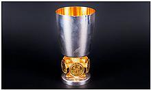 Stuart Devlin Fine Limited & Numbered Edition Silver & Silver Gilt Bristol 600 Goblet, for the Herit