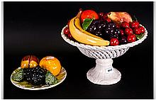 Ceramic Fruit Bowl & Plate