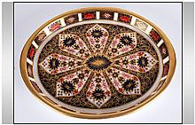 Royal Crown Derby Fine - Old Imari Pattern Oval Shaped Shallow Dish, Finish