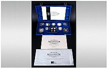 The Royal Mint ''The United Kingdom Millennium Silver Collection'' Collecti