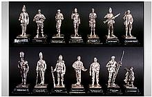 Royal Hampshire Silver Plated on Bronze Military Figures. Individually Cast and Hand Finished By Hig