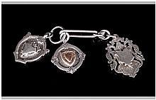 Edward VII Silver Fobs / Medals ( 3 ) In Total. Hallmarks Birmingham 1907, 1902 & 1905. 38 grams.