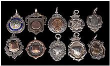 A Good Collection of Vintage Silver Medals / Fobs ( 10 ) In Total. Various