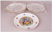Royal Doulton Five Valentine Day Plates.