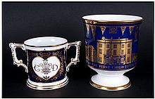 Royal Crown Derby Ltd and Numbered Edition Two Handle Loving Cup, To Celebr