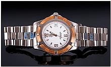 Tag Heuer Professional Date Just Gents Steel Wrist Watch, with 18ct Rose Go