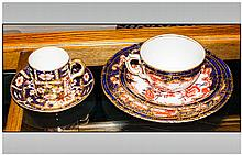Royal Crown Derby Imari Pattern Coffee Can And Saucer 2457, Together With A