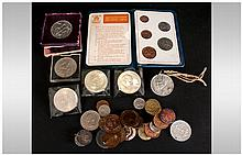 Small Collection of Coins comprising 1951 Cased Crown, Britains First Decim