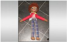Robertson's Style Golly Rag Doll, Length 30 Inches