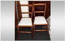 Pair Maple Edwardian Bedroom Chairs.