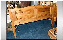 Five Foot Waxed Pine Bed Head Board.