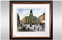 Tom Dodson Limited & Numbered Edition Colour Print, 'The Old Town Hall' Number 72/850. Fine Art Trad