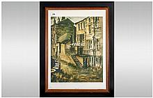 Ashley Jackson Last of The Summer Wine Framed Print 'Norah Quiet Corner'.