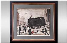 L.S Lowry 1887-1976 Pencil Signed By The Artist Limited Edition Off Set Lithograph In Colour, 'The L