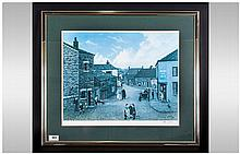 Tom Dodson  Pencil Signed Limited & Numbered Edition Colour Print, 'The Village, Chipping' Number 43