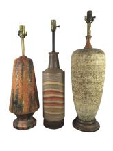 3 Vintage Pottery Lamp