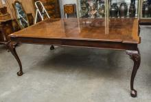 Dining table with drawers on each end