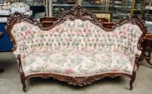 Victorian Sofa circa 1860, fine and intricately