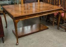 Dining table with two leaves, refinished