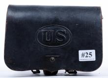 Civil War cartridge pouch with original metal