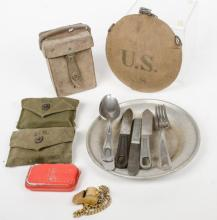 Group of military items including