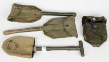 Three military shovels