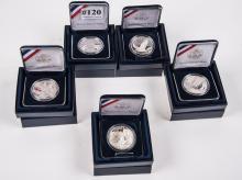 Five silver dollar commemoratives-2007 Jamestown