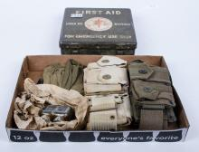 Military first aid kit and belt pouches