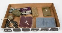 Box lot of military items including Infantry
