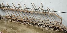 Two metal railings approx 9' x 36