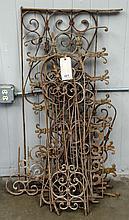 Six pieces of misc. decorative metal