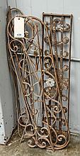 Four pieces decorative metal
