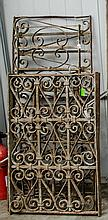 Four pieces of metal grate work