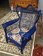 Bar Harbour wing back wicker chair-ca. 1900