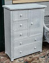Rare old wicker chest of drawers