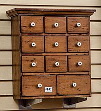 Pine spice chest- 11 drawers approx 17