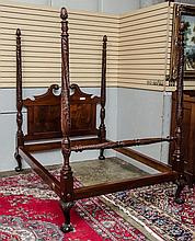 Fabulous carved mahogany bed