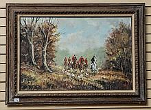 Hunting Scene painting signed
