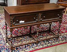 Nice walnut two drawer sideboard
